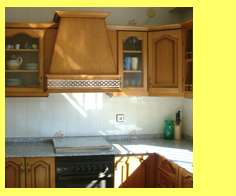 Photo of our Holiday rental's fully fitted kitchen - ideal 3 bed-roomed luxury self-catering accommodation for paragliding pilots or holiday makers in Algodonales, Andalucia